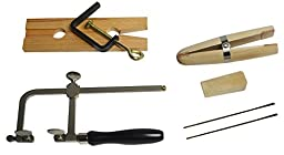 Jewelry Making Bench Tool Kit w/ Bench Pin Ring Clamp Saw Frame Blades