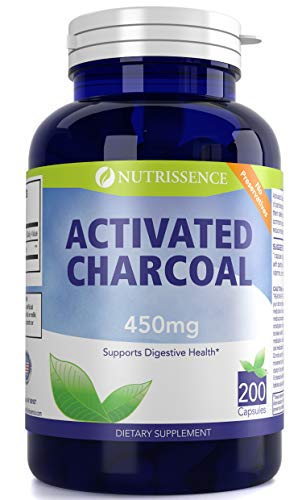 Activated Charcoal 450mg 200 Capsules – Nutrissence Review