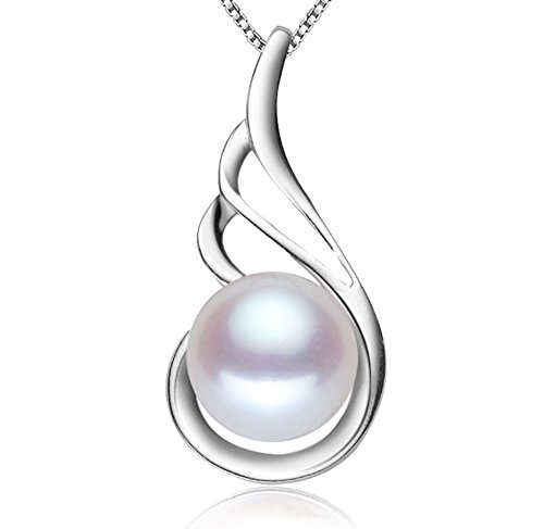 Sterling silver Freshwater Pearl Pendant Necklace 18