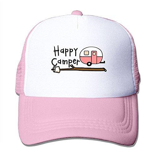 Car Happy Camper Mesh Baseball Cap Adjustable Trucker Hat for Men Women