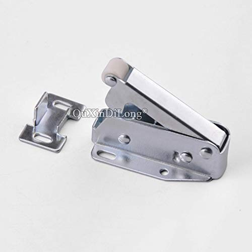 10PCS Spring Door Catches Touch Latch Catch for Cabinet Cupboard Wardrobe Door Press To Open Silver Tone by Kasuki (Image #3)