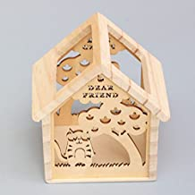 YOURNELO Wooden Hollow Out Animal Home Pen Pencil Holder Desk Organizer Accessories (Squirrel)
