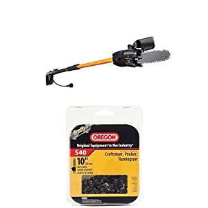 Remington RM1025SPS/RM1015SPS Ranger/Branch Wizard Pro 10-Inch 8-Amp Electric Chainsaw/Pole Saw Combo and Chain Saw Chain Bundle