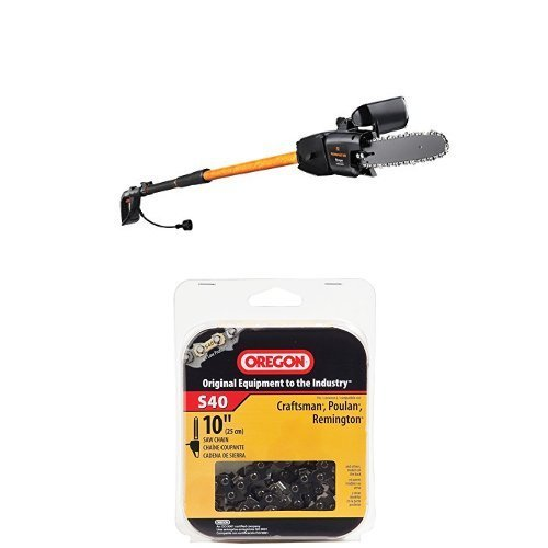 Remington RM1025SPS/RM1015SPS Ranger/Branch Wizard Pro 10-Inch 8-Amp Electric Chainsaw/Pole Saw Combo and Chain Saw Chain Bundle by Remington