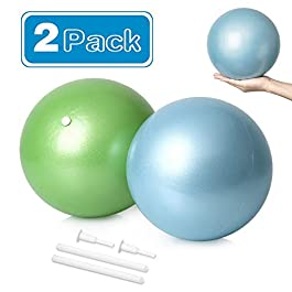 2 Mini Exercise Balls – 9 Inch Small Bender Ball for Stability, Barre, Pilates, Yoga, Core Training and Physical Therapy