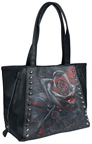 Spiral - Burnt Rose - Tote Bag - Top quality PU Leather Studded