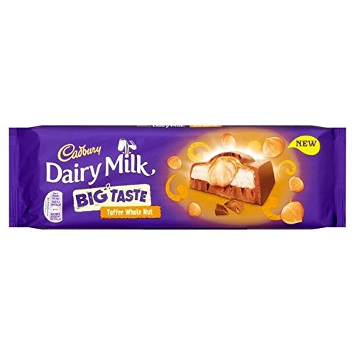 Cadbury Dairy Milk Big Taste Toffee Whole Nut Chocolate Bar by Cadbury