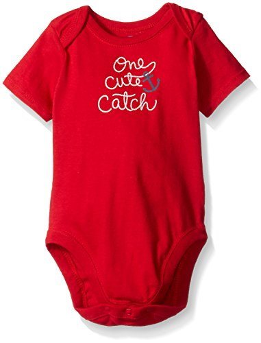 The Children's Place Baby One Cute Catch Bodysuit, Ruby Red, 9-12 Months