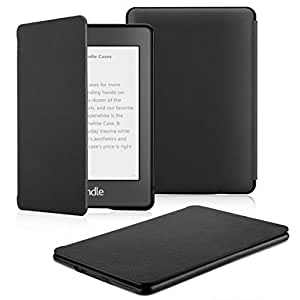 OMOTON Kindle Paperwhite Case (10th Generation-2018), Smart Shell Cover with Auto Sleep Wake Feature for Kindle Paperwhite 10th Gen 2018 Released (Black)