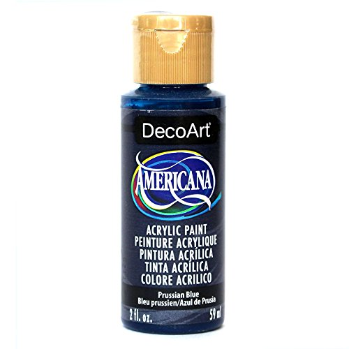 DecoArt Americana Acrylic Paint, 2-Ounce, Prussian Blue Blue 2 Oz Americana Paint