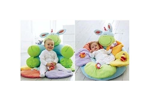 NEW Baby Inflatable Seat Baby Play Mat Game Pad Blossom Farm Sit Me Up Cosy (GREEN)