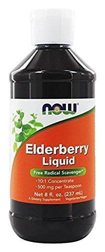 NOW Elderberry Liquid,8-Ounce - Pack of 3