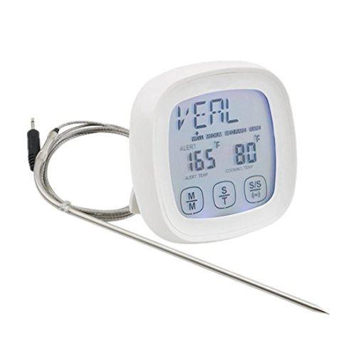 YJYDADA Touchscreen Digital Food Thermometer Meat Thermometer For Kitchen Cooking BBQ (white)