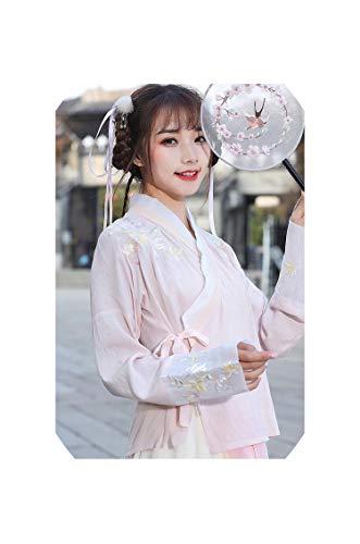 Hanfu Dance Costume Outfit Women Costume Chinese Costume Chinese Clothing for Women,Pink Blouse,M]()