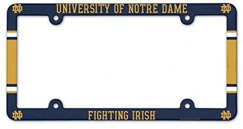 Ncaa Plastic License Plate Frame - Wincraft Notre Dame Fighting Irish NCAA Plastic License Plate Frame