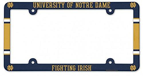 (Wincraft Notre Dame Fighting Irish NCAA Plastic License Plate Frame )