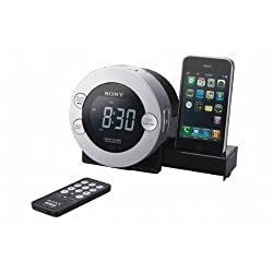 Sony ICF-C7IP Clock Radio for iPod and iPhone with Hidden Sliding Dock Tray with Mini Tool Box (cog)