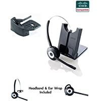 Cisco Compatible Jabra Pro 920 Cordless Headset EHS Bundle | Cisco phones: 6945, 7841, 7861, 7962g, 7965g, 7975g, 8811, 8841, 8845, 8851, 8861, 8865 (Lifter)