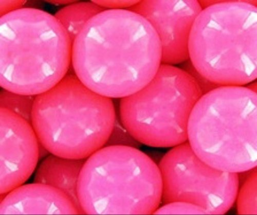 Bright Pink 1 Inch Gumballs 1LB Bag