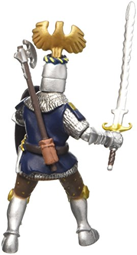 Buy papo knight with crest figure, blue