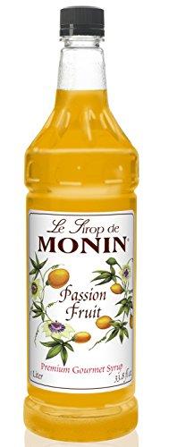 Monin Passion Fruit Syrup, 33.8-Ounce Plastic Bottle (1 liter) (Passion Fruit Tart)