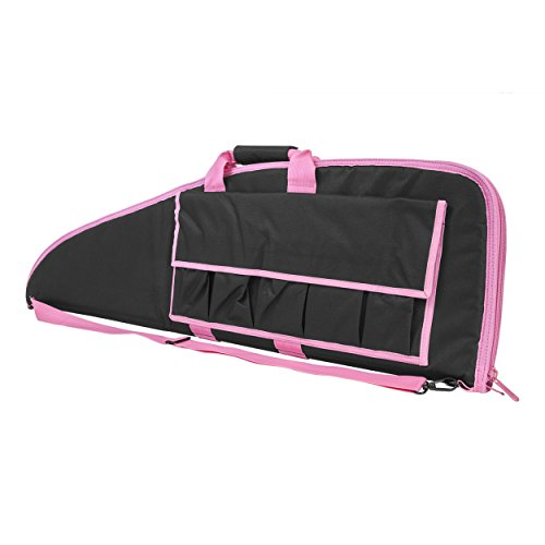 NcStar Vism Trim Rifle Case, 40-Inch, Black/Pink