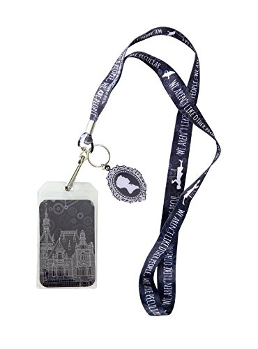 (Miss Peregrine's Home For Peculiar Children We Are Peculiar Lanyard with Cameo Keyring Charm)
