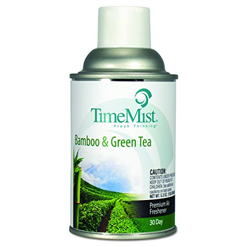 TimeMist 1047606CT Metered Aerosol Fragrance Dispenser Refill, Bamboo/Green Tea,6.6oz Aerosol (Case of 12) - Mist Automatic Dispenser