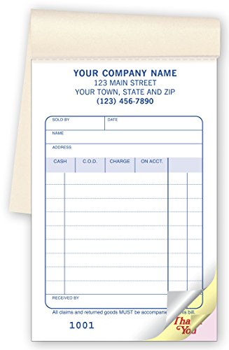 CheckSimple Multi-Purpose Sales Receipt Book, Customized Pocket Size, 2-Part Forms, White, 3 3/8 x 5 1/8 (1000 Forms)