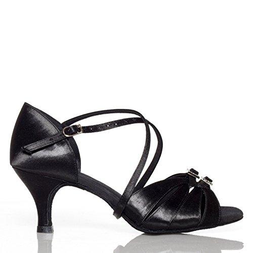 7 Miyoopark bal heel femme 35 noir de 5cm Black Salle SqAwCS7