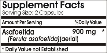 Asafoetida 900mg * 180 Capsules 100 % Natural - by EarhNaturalSupplements by Premium