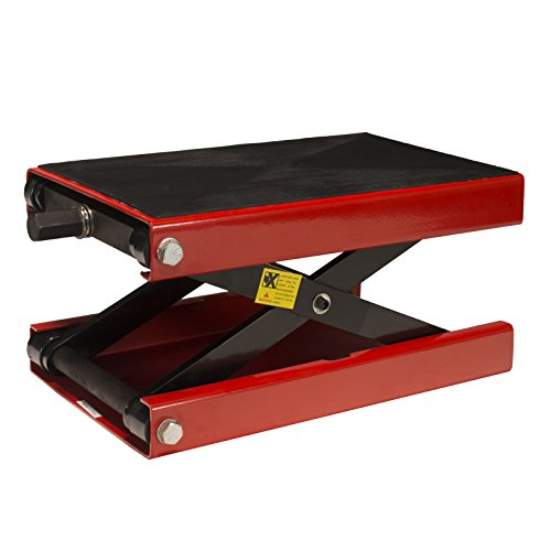 Jack Motorcycle - Dragway Tools 1100 LB Wide Deck Motorcycle Center Scissor Lift Jack Hoist Stand Bikes ATVs