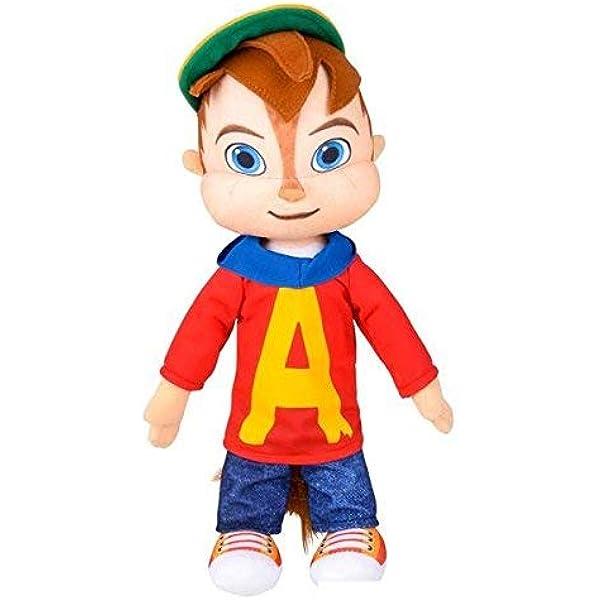 28 cm RARE CLASSIQUE Alvin And The Chipmonks Soft Plush Toy Red Alvin.