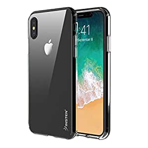 "Apple iPhone X Case, Insten Ultra Slim TPU Rubber Candy Skin Shock Absorbing Protective Case Cover For Apple iPhone X 5.8"" (2017), Crystal Clear"