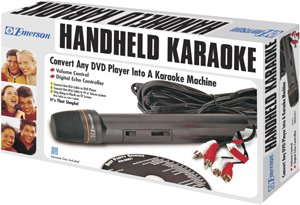 (Emerson Mm204 Handheld Karaoke Microphone &)