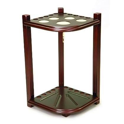 Image of Imperial Hardwood Corner Floor Billiard/Pool Cue Rack, Holds 10 Cues
