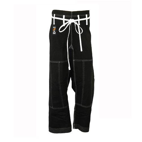 PLAYWELL Pantalon de MMA et de ju-jitsu - qualité compétition - noir