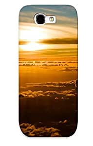 lintao diy Crazinesswith High-quality Durability Case For Galaxy Note 2(sunset Above The Clouds)