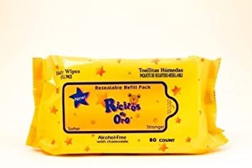 Amazon.com : Baby Wipes Ricitos de Oro Grisi 80 Count Chamomile - Hypoallergenic Alcohol Free : Baby