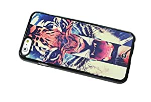 1888998506785 [Global Case] Galaxy Space Infinity Tiger Stars Nebulae Cheetah Sky Universe Hipster Puma Blue Constellation Étincelle (BLACK CASE) Snap-on Cover Shell for Samsung Galaxy S6 Edge