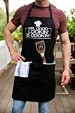 Funny Apron for Men - Mr. Good Looking is Cooking