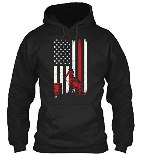 Barrel Racing Shirt. L - Black Sweatshirt - Gildan 8oz Heavy Blend Hoodie ()