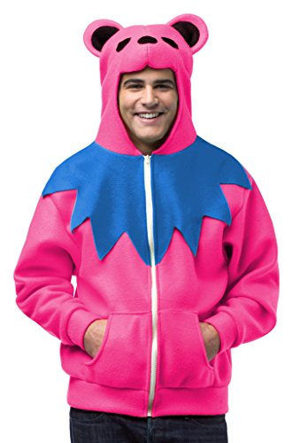 Faerynicethings Grateful Dead Dancing Bear Hoodie Color Pink Size: Medium ()