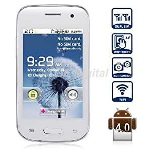 Unlocked (mini) E-S3 I9300 (No Warranty)Dual Sim 4.0 Inch 3g Smartphone - Unlocked for At&t T-mobile any GSM (White)