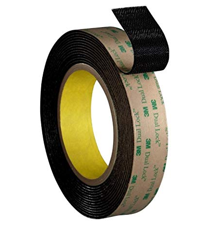 - 3M Dual Lock Reclosable Fastener TB4575 Low Profile Black, 1 in x 10 ft (1 Mated Strip/Bag)