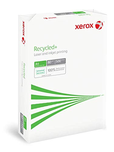 Risma di carta riciclata da 80 g//m2 formato A4 5 x 500 fogli Xerox 003R91912