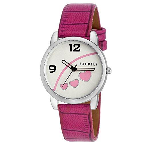 Laurels Pink Dial Women's Watch (Lo-Feb-512)