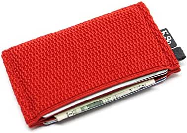 Slim Minimalist Front Pocket Wallet and Credit Card Holder for Men and Women. Elastic Collection Small Wallets by K.So.