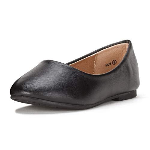 DREAM PAIRS Little Kid Muy Black Pu Girl's Mary Jane Ballerina Flat Shoes - 2 M US Little -