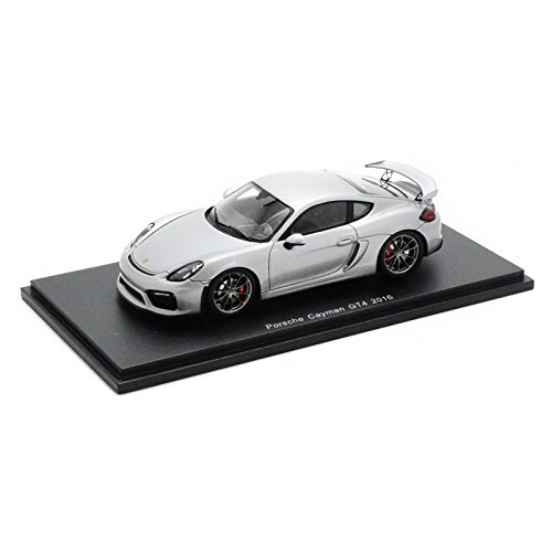 Spark – Porsche Cayman GT4 – 2016 – Maßstab 1/43, S4941, silber